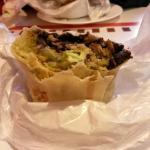 Super soy (vegetarian) burrito. Super tasty and filling!