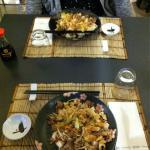 teriyaki con manzo e pollo
