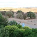 view from the roof, frontside (road and nice desert landscape)