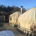 Yurts outside