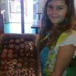 bday girl with her Bday Mini Cupcakes :)