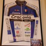Koszulka kolarzy z Clusone k/ Bergamo, przyjechali na rowerach z Włoch do Krakowa.