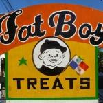 Fat Boy Treats street sign