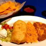 Had an EXCELLENT chimichanga, rice and beans - FABULOUS and perfectly cooked!
