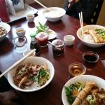 Food on the table at Pho Viet Nam 999