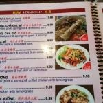 A page from Pho Viet Nam 999's very extensive menu
