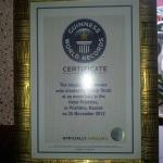 The World Record certification