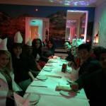 Enjoying dinner!!!