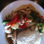 Chicken and veggie stir fry with cashews
