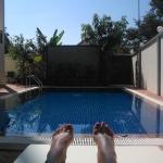 la piscine ...