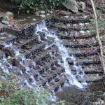 滝沢川の階段状堰