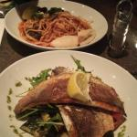 Beautiful seabass & seafood pasta