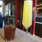 Mimosa & Bloody Mary! Nice and strong!