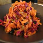 Delicious carrot salad.