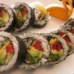 Made-to-order sushi at brunch