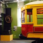 Trolley Trailer No. 610 in the Growing Home exhibit