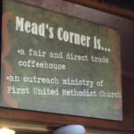 Fair trade coffeehouse