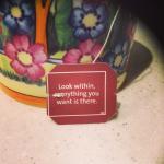 Yogi tea inspirational message