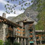 The Majestic Yosemite Hotel in spring.