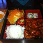 Lunch Bento box General Tso's chicken