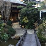 The entry to the ryokan