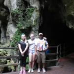 family at the caves