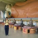 With the longest reclining Buddha