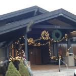 Lodge Entrance - Christmas Decorations