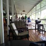 verandah for bird spotting, tea and rum punch