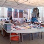 A view of the book fair on Sundays