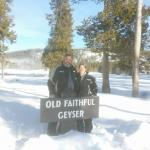 Photo op at Old Faithful