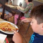 Loving the parmigiana... This is my son's favourite place to eat and this is his favourite meal!