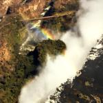 Arial view of Victoria Falls