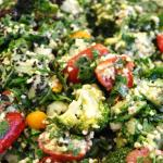SUPERFOODILIC SALAD – Chai Seeds, Cracked Wheat, Physalis, Parsley, Mint, Broccoli, Cherry Tomat