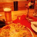 Pilsner, Borovicka Horec spirit and Pizza ;)
