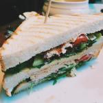 Just the half of the chicken club sandwitch.