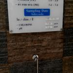 Water Standard Indicator at the pool
