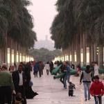 Street Shot of Al Azzar Park