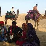 Camel and gypsie people