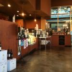 Cute place with gluten free options, wine, coffee.