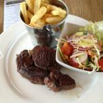 Rib-Eye Steak, Chips & side salad