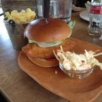 Chicken Burger with chips & coleslaw