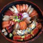 A7 sushi sashimi platter that I supposed to come with 46 pieces but there were extra pieces in t