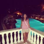 Piscina dell'hotel di sera