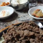 Beef Bulgogi and Side Dishes