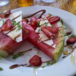 delicious watermelon appetizer