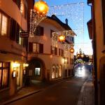 Christmas lights in Stein am Rhein