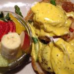 Crab and Lobster Cake Benedict
