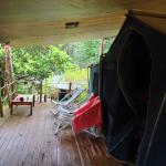 Campaign tent deck