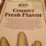 The Cracker Barrel menu